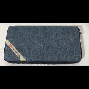 Diesel Denim Line 24 Zip-Wallet NWT